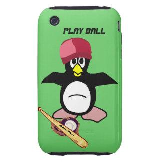Bola del juego un diseño divertido del béisbol del tough iPhone 3 cárcasa