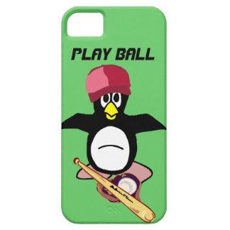 Bola del juego un diseño divertido del béisbol del iPhone 5 Case-Mate protectores