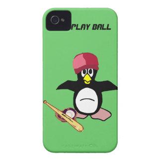 Bola del juego un diseño divertido del béisbol del iPhone 4 Case-Mate carcasas