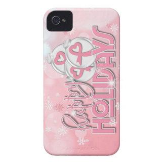 Bola del navidad (cáncer de pecho) Case-Mate iPhone 4 protectores
