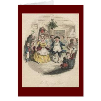 Bola del navidad de Fezziwig viejo un villancico Felicitación