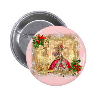 Bola del navidad de Marie Antonieta Pin Redondo De 2 Pulgadas
