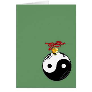 Bola del navidad de Yin y de Yang Tarjeta De Felicitación