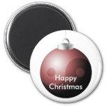 Bola del navidad de Yin Yang en rojo Imán De Frigorifico