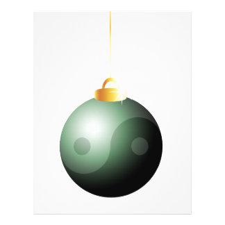 Bola del navidad de Yin Yang Flyer Personalizado