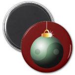 Bola del navidad de Yin Yang Imanes De Nevera