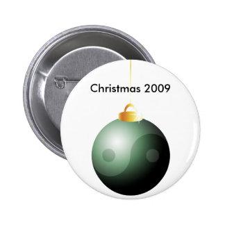 Bola del navidad de Yin Yang Pin Redondo De 2 Pulgadas