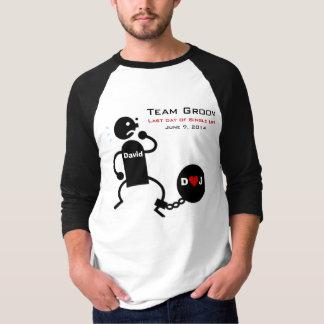 Bola del novio del equipo y camisa de la cadena