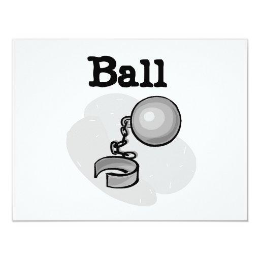 Bola del novio y camisetas y regalos de la cadena invitaciones personales