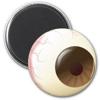 Bola del ojo de Brown Iman Para Frigorífico