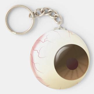 Bola del ojo de Brown Llavero Redondo Tipo Pin