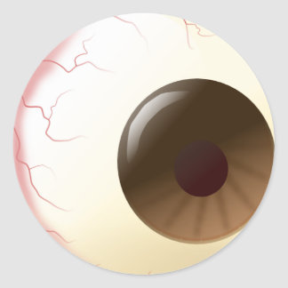Bola del ojo de Brown Etiqueta Redonda