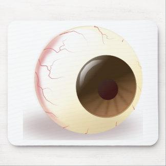 Bola del ojo de Brown Tapete De Ratón