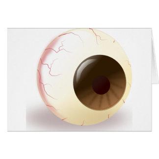 Bola del ojo de Brown Felicitacion
