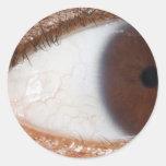 Bola del ojo pegatinas redondas