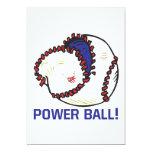Bola del poder invitación 12,7 x 17,8 cm