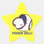 Bola del poder pegatina en forma de estrella