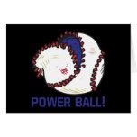 Bola del poder tarjeta