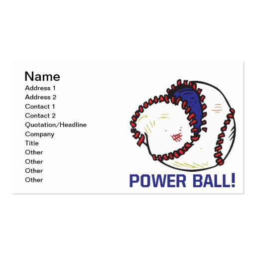 Bola del poder tarjetas de visita