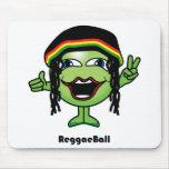 Bola del reggae tapetes de ratón