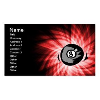 Bola del rojo 8 tarjetas de visita