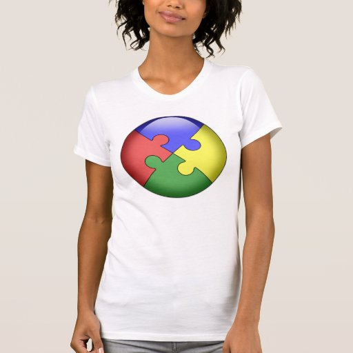 Bola del rompecabezas del autismo polera