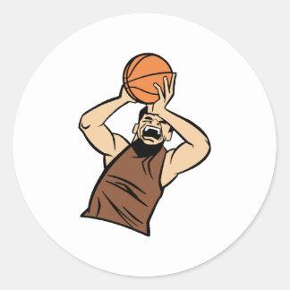 Bola del tiroteo del jugador de Brown Etiqueta Redonda