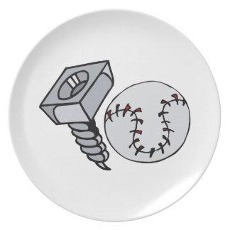 Bola del tornillo plato de comida
