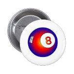 Bola del vintage 8 pins
