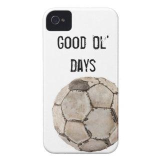 Bola del vintage del fútbol de la cubierta Iphone4 iPhone 4 Case-Mate Fundas