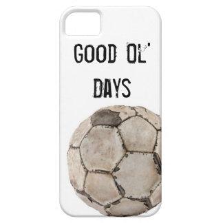 Bola del vintage del fútbol de la cubierta Iphone5 Funda Para iPhone 5 Barely There