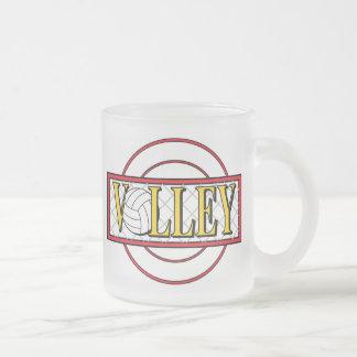 Bola del voleo tazas de café