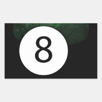 Bola diósida de la magia 8 pegatina rectangular