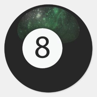 Bola diósida de la magia 8 pegatina redonda