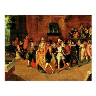 Bola durante el reinado de Enrique III, 1574-1623 Tarjetas Postales