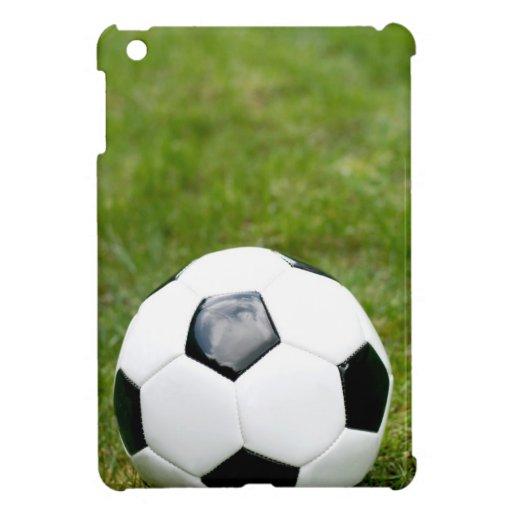 Bola e hierba de fútbol