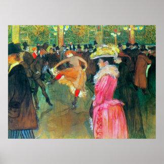 Bola en el colorete por Toulouse-Lautrec Poster