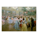 Bola en el Hofburg, 1900 de la corte Tarjetón