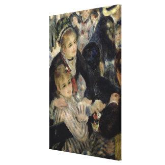 Bola en el Moulin de la Galette, detalle de SE dos Impresiones De Lienzo