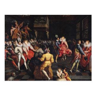 Bola en la corte de Valois Postal