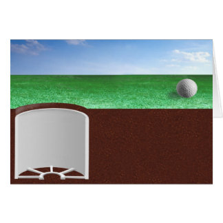 Bola en verde tarjeta de felicitación
