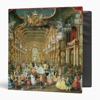 "Bola enmascarada en el Hoftheater, Bonn, 1754 Carpeta 1 1/2"""