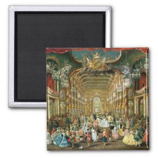 Bola enmascarada en el Hoftheater, Bonn, 1754 Imán Cuadrado