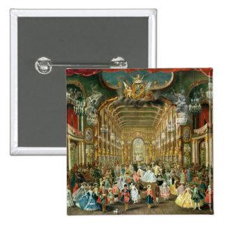 Bola enmascarada en el Hoftheater, Bonn, 1754 Pin Cuadrada 5 Cm