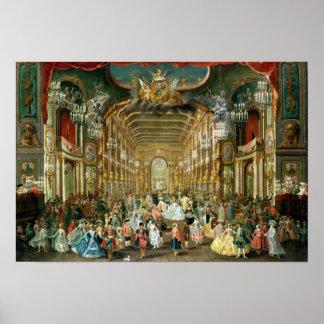 Bola enmascarada en el Hoftheater, Bonn, 1754 Póster