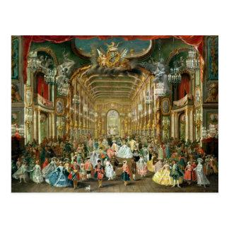 Bola enmascarada en el Hoftheater, Bonn, 1754 Postal