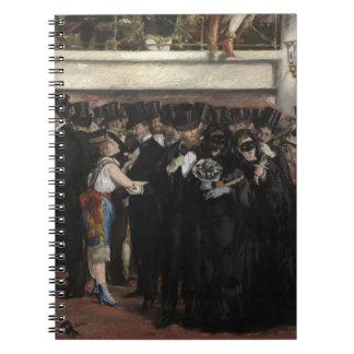 Bola enmascarada en la ópera, 1873 (aceite en lona libro de apuntes con espiral