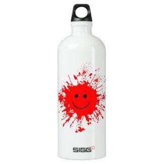 Bola feliz de la pintura del papá botella de agua