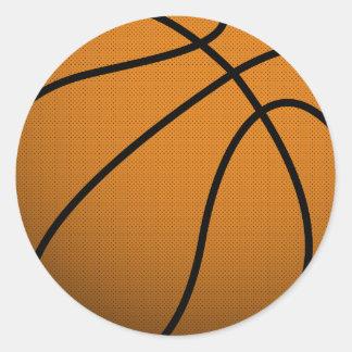 Bola fresca de los deportes B del baloncesto y del Pegatina Redonda