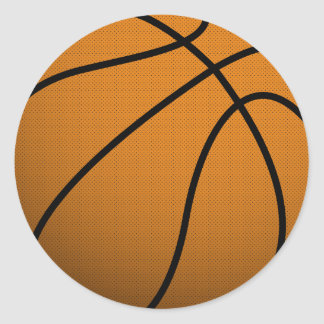 Bola fresca de los deportes B del baloncesto y del Etiqueta Redonda